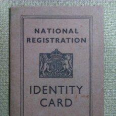Militaria: CARTILLA DE IDENTIDAD. 1945. REINO UNIDO. II GUERRA MUNDIAL. Lote 45159306