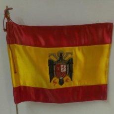 Militaria: BANDERIN DE DESPACHO ( MANDO ESPAÑOL ) AÑOS 50 . ESCUDO BORDADO COMPLETAMENTE ORIGINAL. Lote 45212555