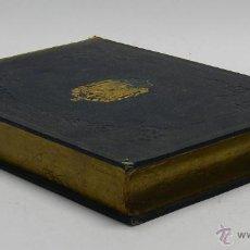 Militaria: CAJA CON FORMA DE LIBRO DE ESCALAFON DE INFANTERIA 1866, EPOCA ISABEL II, MIDE 23 X 16,5 CMS. REALID. Lote 45513795