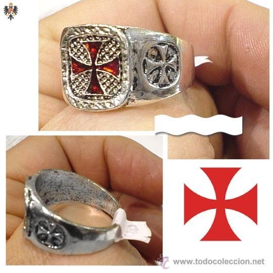 Anillo Templario Cruz Pate Esmaltado Tallas Comprar Reproducciones Replicas Militares Y Objetos Decorativos En Todocoleccion 55554847