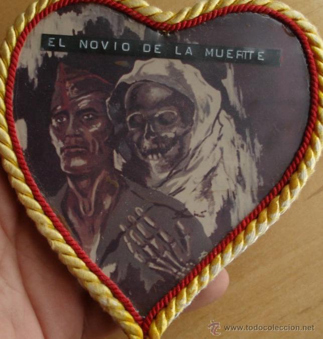 ANTIGUO CORAZON DE LA LEGION EL NOVIO DE LA MUERTE HECHO ARTESANALMENTE HECHO POR LEGIONARIO VETERAN (Militar - Reproducciones, Réplicas y Objetos Decorativos)