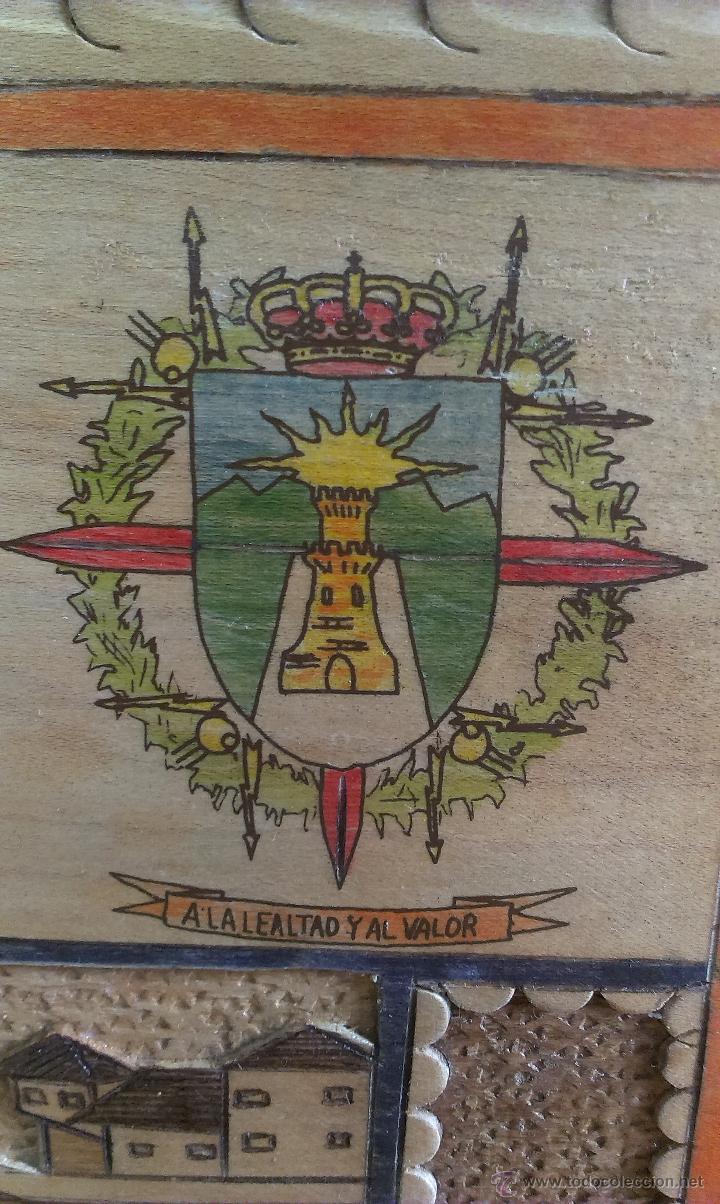 Militaria: BONITA TALLA EN MADERA . UNIDAD SPABRI VIII UTRANS. MOSTAR - Foto 3 - 47665697