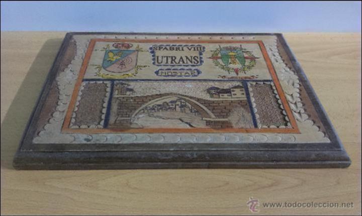Militaria: BONITA TALLA EN MADERA . UNIDAD SPABRI VIII UTRANS. MOSTAR - Foto 8 - 47665697