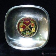 Militaria: CENICERO JEFATURA DE ARTILLERÍA III REGIÓN MILITAR VALENCIA. ACERO Y BRONCE LACADO 15 CM.. Lote 47832031