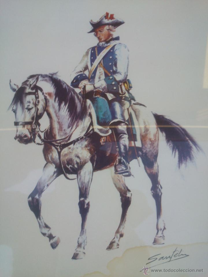 lamina enmarcada militar a caballo. ejerito.fir - Comprar ...
