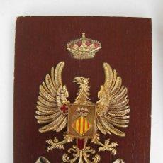 Militaria: METOPA MILITAR EJERCITO AGUILA CON CORONA DORADA CENTRO INSTRUCCION RECLUTAS Nº 7 MARINES VALENCIA. Lote 48433428