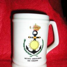 Militaria: ARMADA ESPAÑOLA. JARRA. FACTORIA DE SUBSISTENCIAS DE SAN FERNANDO. Lote 48844387