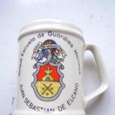 Militaria: JARRA DE CERAMICA DEL BUQUE ESCUELA DE GUARDIAS MARINAS JUAN SEBASTIAN ELCANO. Lote 179519028