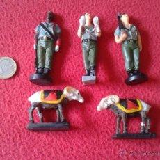 Militaria: PRECIOSO LOTE DE 5 FIGURAS DE LA LEGION LEGIONARIOS Y CABRAS EN MARMOLINA, TERRACOTA O SIMILAR IDEAL. Lote 48963706