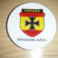 Militaria: PLATO CON ESCUDO DE DIVISIÓN AZUL. Lote 50680329