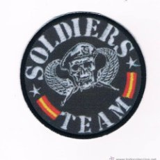 Militaria: PARCHE TEXTIL Y BORDADO INSIGNIA MILITAR SOLDIERS TEAM 7,5 CM NUEVO. Lote 51208973
