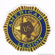 Militaria: PARCHE TEXTIL INSIGNIA MILITAR AMERICAN LEGION NUEVO 8 CM X 8 CM. Lote 51208994