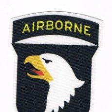 Militaria: PARCHE TEXTIL INSIGNIA MILITAR AIRBORNE 101 DIVISIÓN AEROTRANSPORTADA NUEVO. Lote 51209013