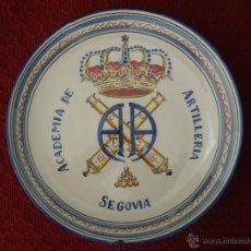 Militaria: PLATO DE CERAMICA DE LA ACADEMIA DE ARTILLERIA SEGOVIA.. Lote 51253565
