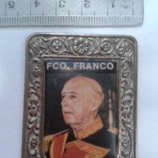 Militaria: PLACA IMAGEN DE FRANCO.. Lote 51398601