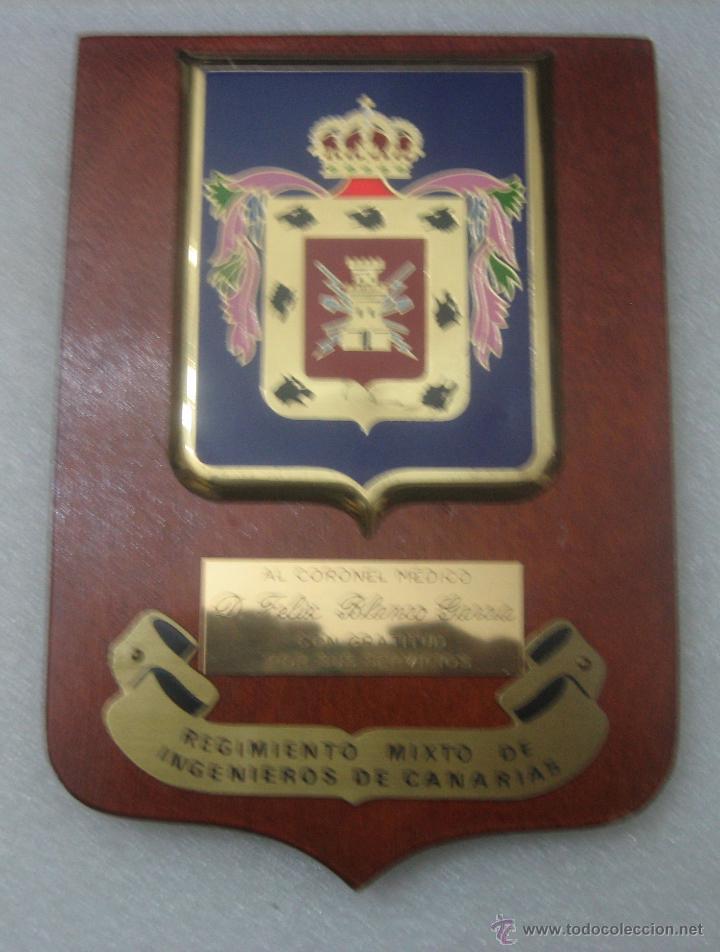 METOPA REGIMIENTO MIXTO INGENIEROS CANARIAS (Militar - Reproducciones, Réplicas y Objetos Decorativos)
