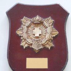 Militaria: METOPA MILITAR. CRUZ ROJA ESPAÑOLA. BRONCE. 26 X 20 CM. Lote 51569459