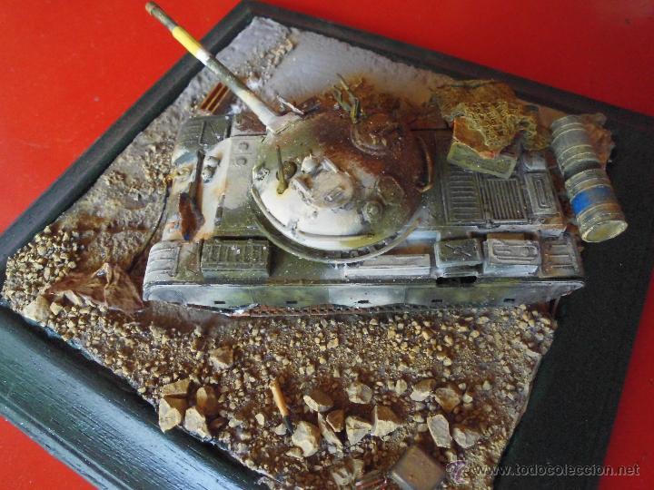 Militaria: T-62 DEL EJERCITO IRAQUI DESTRUIDO. DIORAMA ESCALA 1/72 - Foto 7 - 51706560