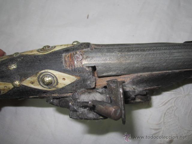 Militaria: Réplica de pistola antigua. 45 cms. largo. - Foto 8 - 144708504