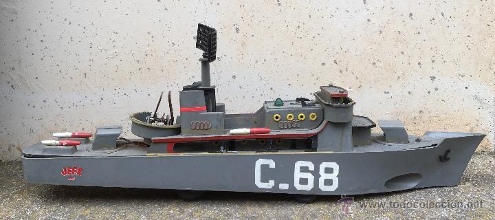 juguete barco militar de guerra c j saludes espaa baldes de la marca