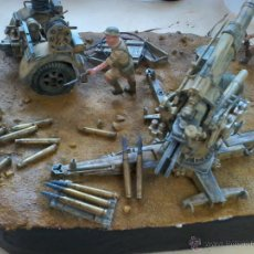 Militaria: MAQUETA ASALTO A TOBRUK 1942-DIORAMA MILITAR. Lote 53310935