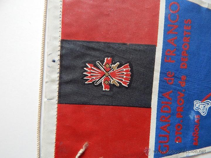 Militaria: Banderín Guardia de Franco. Dto. Prov. de Deportes - 1964 - Foto 3 - 53694537