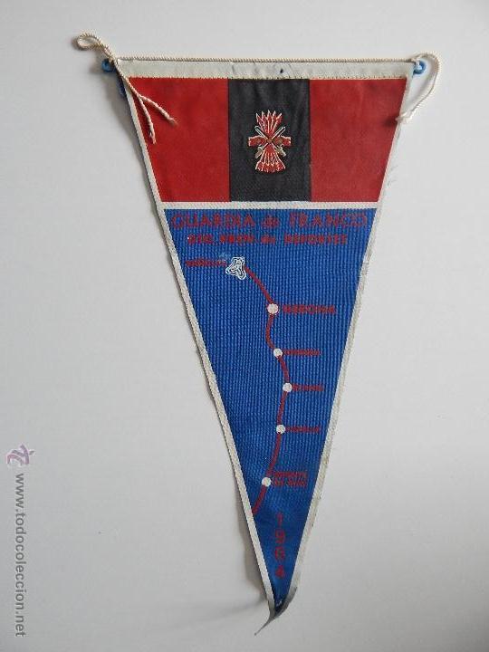 BANDERÍN GUARDIA DE FRANCO. DTO. PROV. DE DEPORTES - 1964 (Militar - Reproducciones, Réplicas y Objetos Decorativos)