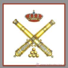 Militaria: AZULEJO 15X15 DEL ESCUDO DE LA ARTILLERIA ESPAÑOLA. Lote 53758739