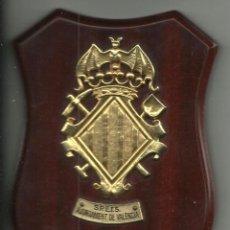 Militaria: METOPA DE LOS BOMBEROS S.P.E.I.S DE VALENCIA DE 15,5 X 11,5 CM.. Lote 54260790