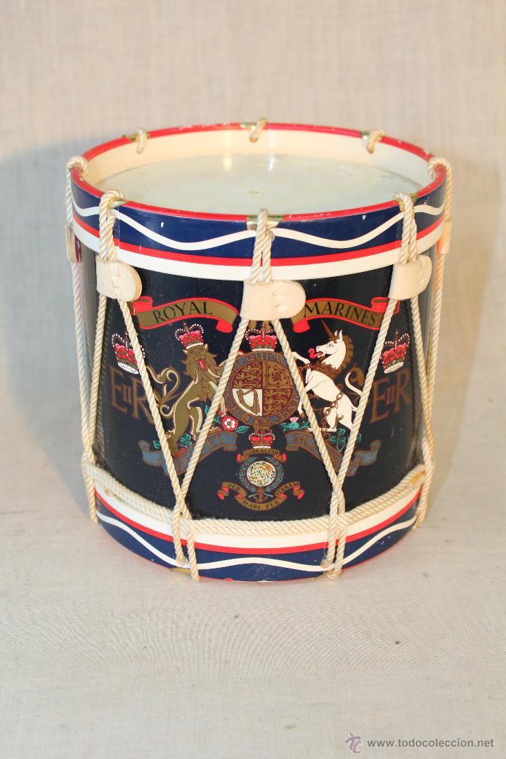 CAJA TAMBOR ROYAL MARINES (Militar - Reproducciones, Réplicas y Objetos Decorativos)