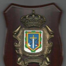 Militaria: METOPA CON EL ESCUDO DEL AYUNTAMIENTO DE WAMBA 20 X 14 CM.MADERA BRONCE Y ESMALTE. Lote 54645628
