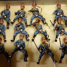 Militaria: CONJUNTO DE SOLDADOS DE PLOMO PINTADOS A MANO DE GRAN CALIDAD DE HUSARES DE LA PRINCESA. Lote 54680093