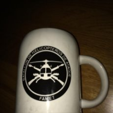 Militaria: JARRA CERAMICA MILITAR BATALLON HELICOPTEROS DE ATAQUE SELLADA CER. CARTAGENA MARIBEL MUY RARA. Lote 54772541
