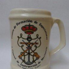 Militaria: JARRA TAZA CENTRO DE FORMACION DE ESPECIALISTAS Y CUARTEL DE INSTRUCCION DE MARINERIA. Lote 54798529