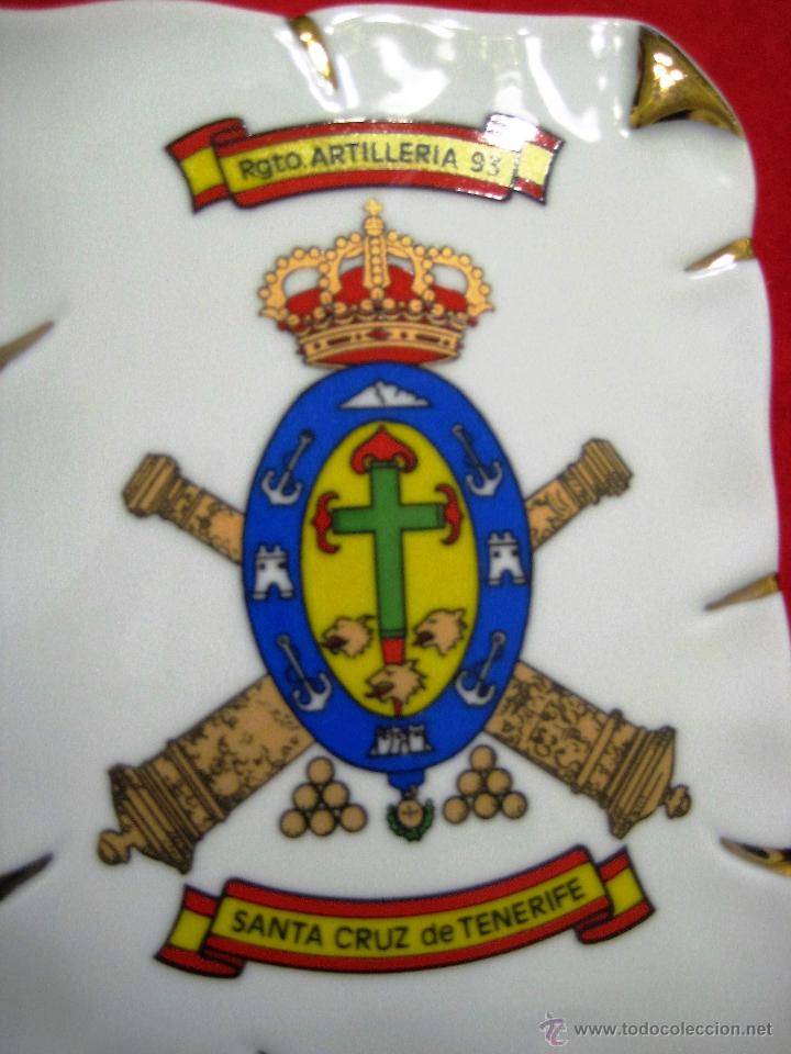 Militaria: METOPA de cerámica tipo pergamino enmarcada- Rgmto Artilleria Sta Cruz de Tenerife - Foto 2 - 55013390