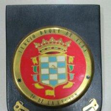 Militaria: ANTIGUA METOPA MILITAR LEGIONARIA TERCIO DUQUE DE ALBA 2º DE LA LEGIÓN SEXTA BANDERA. Lote 55939321