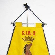 Militaria: INEDITO GRAN BANDERIN DEL C.I.R 2 CENTRO DE INSTRUCCION DE RECLUTAS ALCALA MADRID 34 COMPAÑIA. Lote 56173623