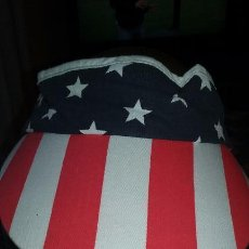 Militaria: USA. 4 DE JULIO. VISERA CON BANDERA ESTADOUNIDENSE.. Lote 56848614