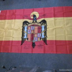 Militaria: BANDERA FRANQUISTA ESPAÑA ÁGUILA NEGRA. Lote 113449610