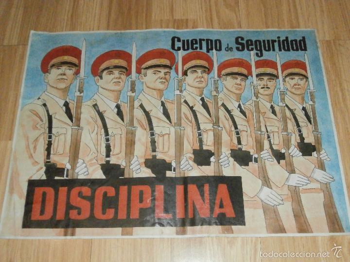 CARTEL - LOS INTERNACIONALES - CUERPO DE SEGURIDAD - DISCIPLINA - (Militar - Reproducciones, Réplicas y Objetos Decorativos)