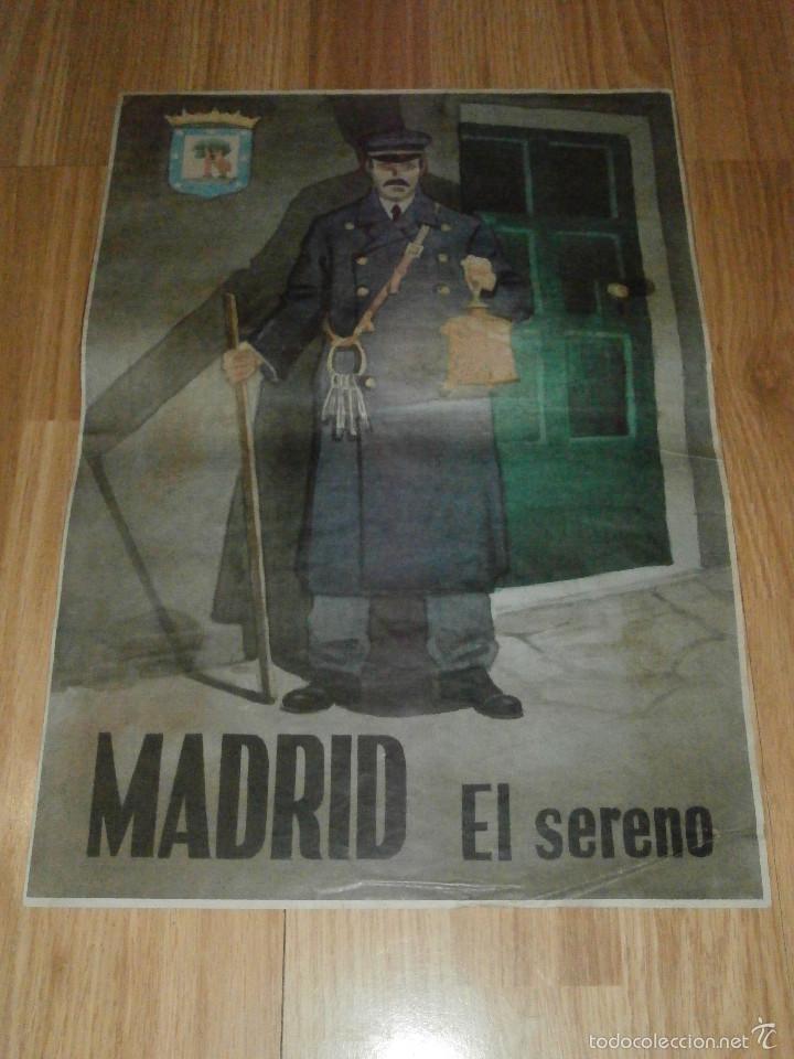 CARTEL - MADRID - EL SERENO - 42 CM X 29,5 CM.. - (Militar - Reproducciones, Réplicas y Objetos Decorativos)