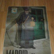 Militaria: CARTEL - MADRID - EL SERENO - 42 CM X 29,5 CM.. -. Lote 58331566