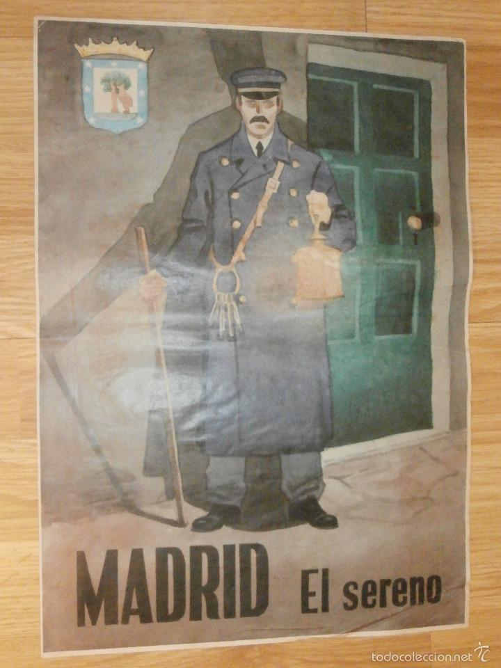 Militaria: CARTEL - MADRID - EL SERENO - 42 cm x 29,5 cm.. - - Foto 2 - 58331566