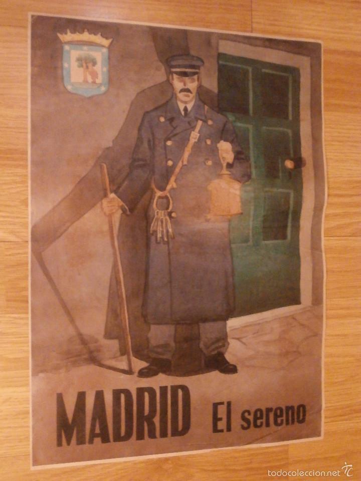 Militaria: CARTEL - MADRID - EL SERENO - 42 cm x 29,5 cm.. - - Foto 4 - 58331566