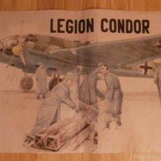 Militaria: CARTEL - LEGION CONDOR - 42 CM X 29,5 CM.. -. Lote 58331732