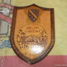 Militaria: METOPA DE MADERA DE MOSTAR. Lote 58576153