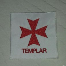 Militaria: ESCUDO BORDADO TEMPLARIO. Lote 128490371