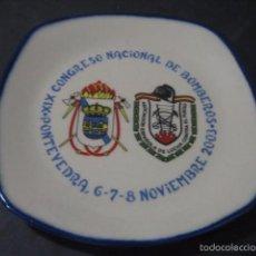 Militaria: PLATO CERAMICA XIX CONGRESO NACIONAL DE BOMBEROS. PONTEVEDRA 2003. Lote 60376403