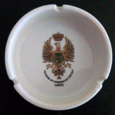 Militaria: CENICERO POLÍGONO DE EXPERIENCIAS COSTILLA CADIZ. Lote 60647163