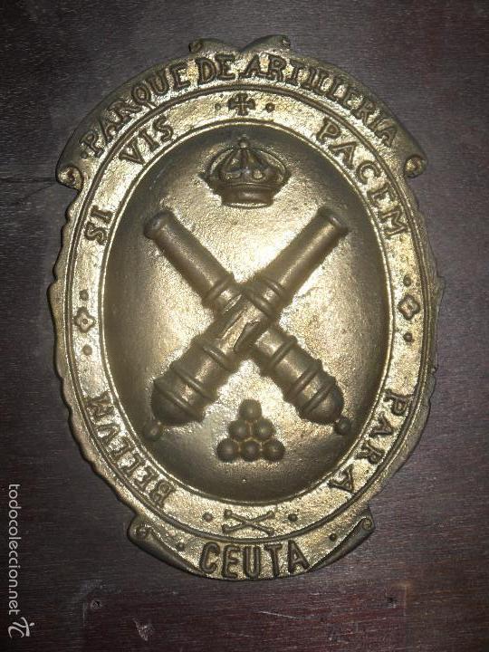 Militaria: METOPA PARQUE DE ARTILLERIA DE CEUTA, SI VIS PACEM PARA BELLVM, SI QUIERES LA PAZ PREPARA LA GUERRA. - Foto 5 - 60879163